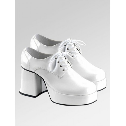Platform Shoes - White