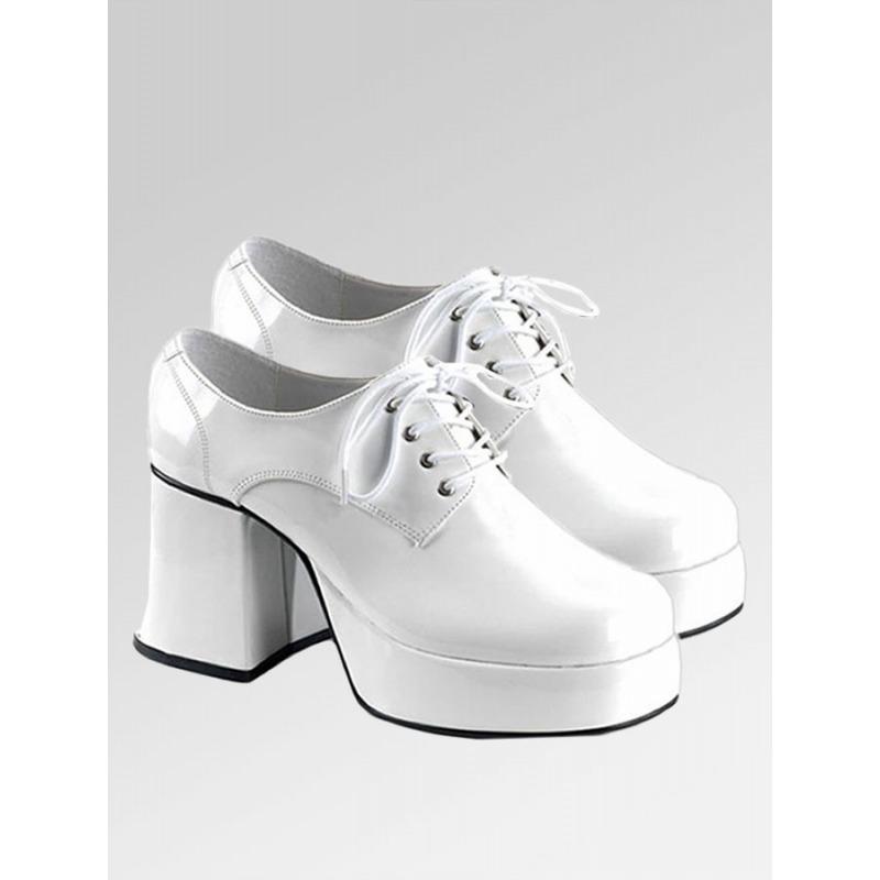Platform Shoes - White