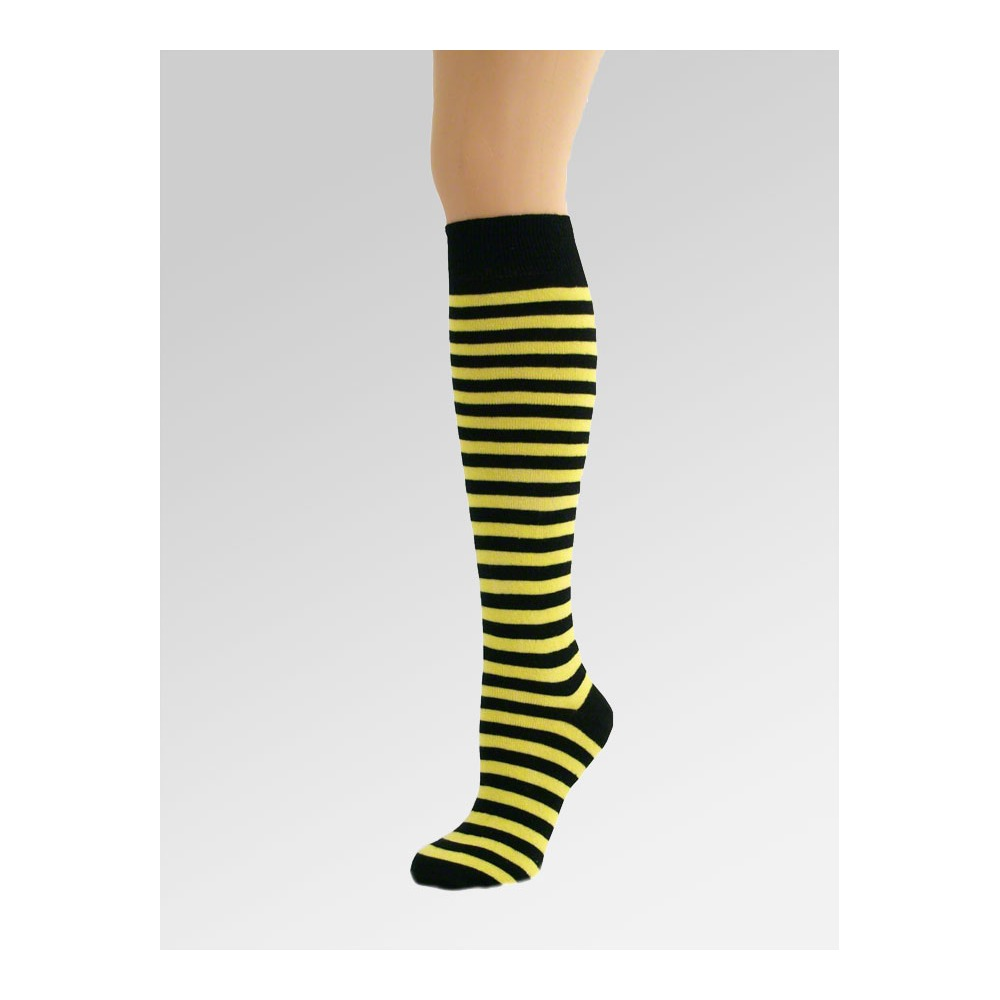 long over knee socks yellow black. Black Bedroom Furniture Sets. Home Design Ideas