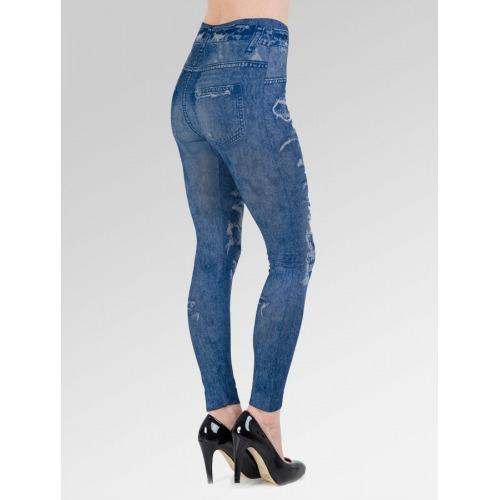 Ripped Jean Effect Leggings