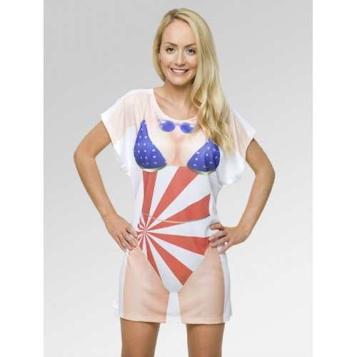 Beach Cover Up - Stars & Stripes Swimsuit