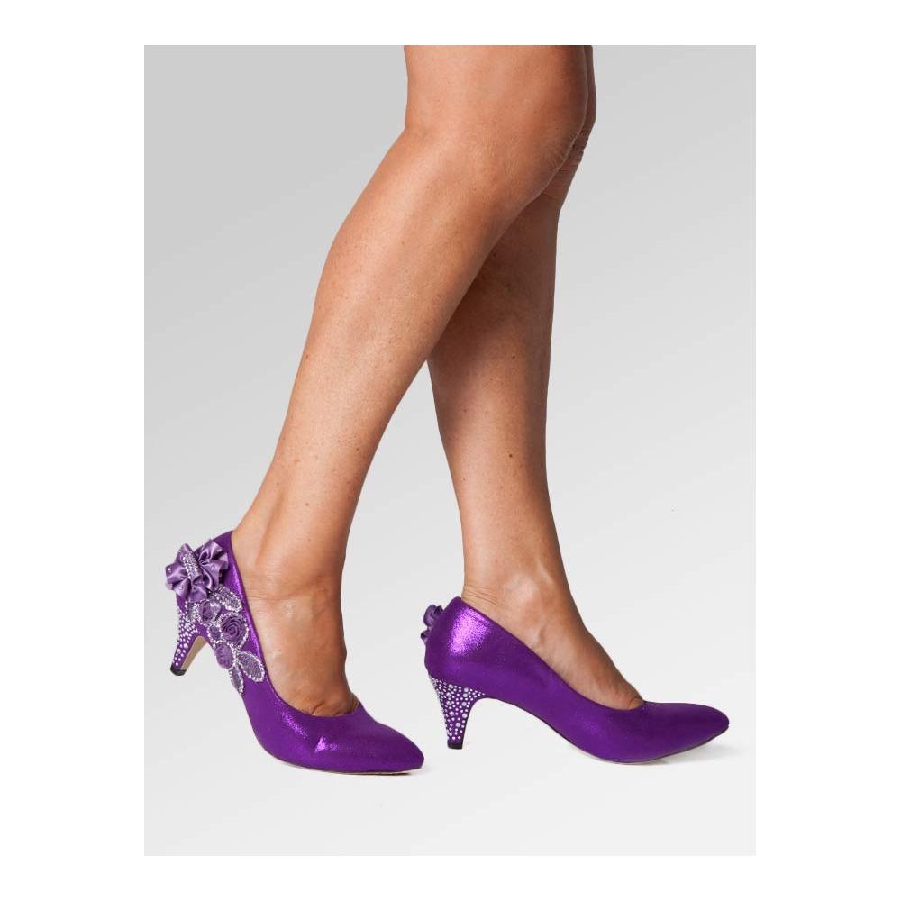 Purple Wedding Heel.Mid Heel Wedding Shoes Purple
