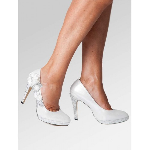 High Heel Wedding Shoes - White