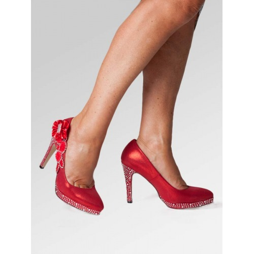 High Heel Wedding Shoes - Red