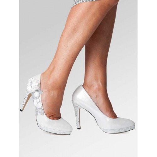 High Heel Wedding Shoes - Silver