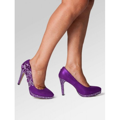 High Heel Wedding Shoes - Purple