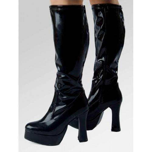 Platform Boots - Black Patent