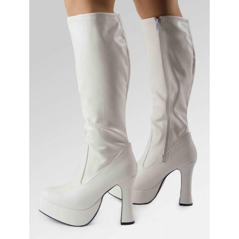 Platform Boots - White Matt