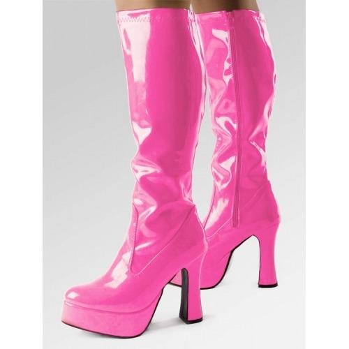 Platform Boots - Hot Pink