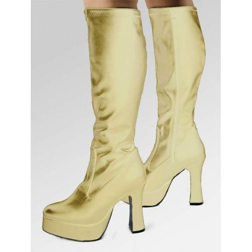 Platform Boots - Gold
