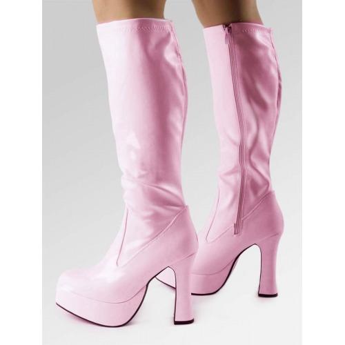 Platform Boots - Pink Patent