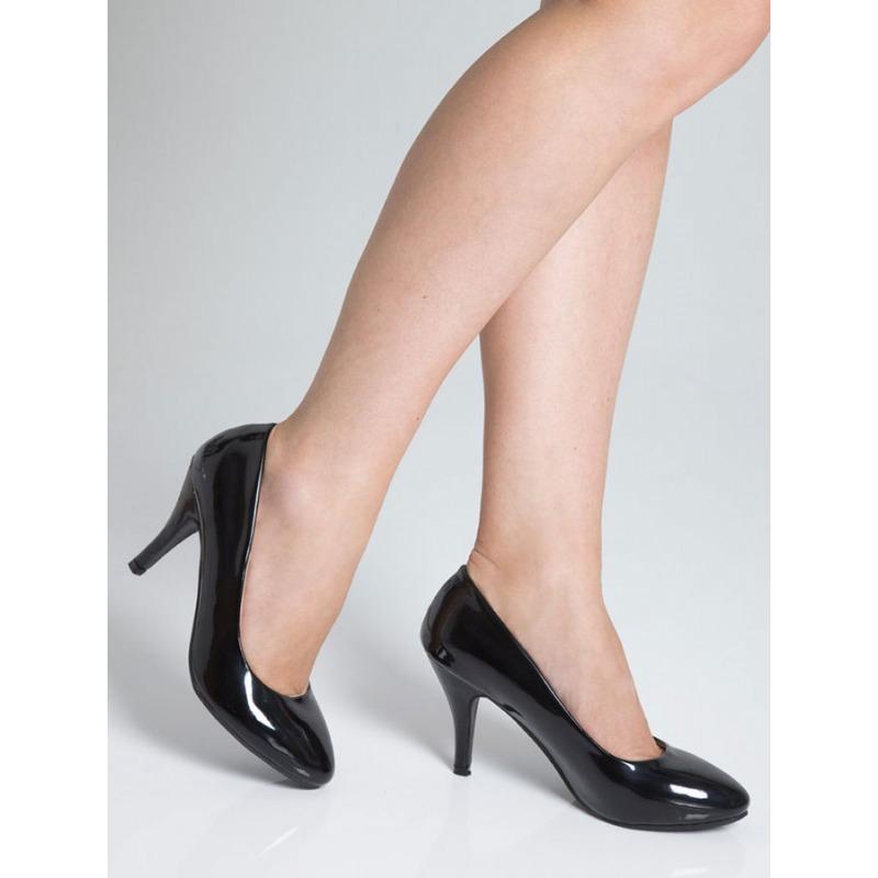 Mid Heel Court Shoes - Black