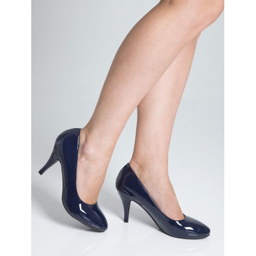 Mid Heel Court Shoes - Royal Blue