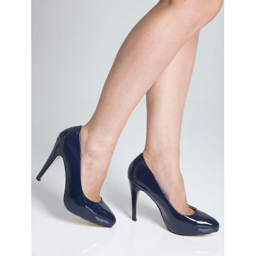 High Heel Court Shoes - Royal Blue