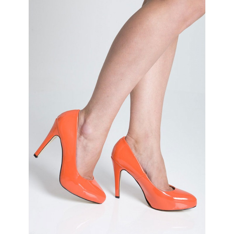 High Heel Court Shoes - Coral