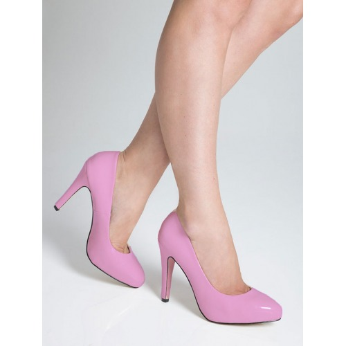 High Heel Court Shoes - Pink