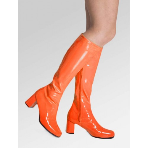 Knee High Boots - Orange