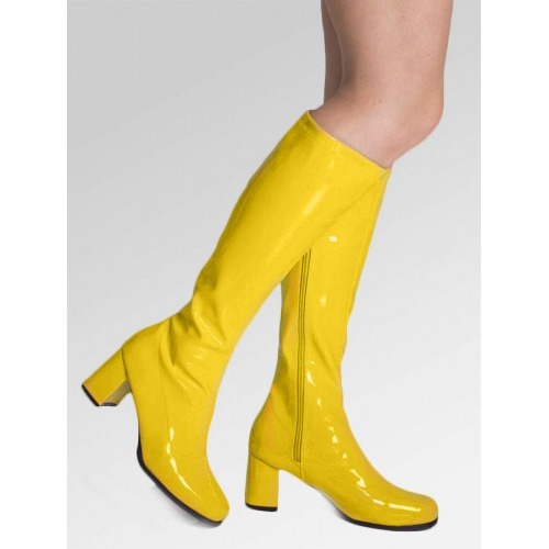 Knee High Boots - Yellow