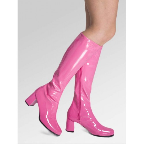 Knee High Boots - Hot Pink
