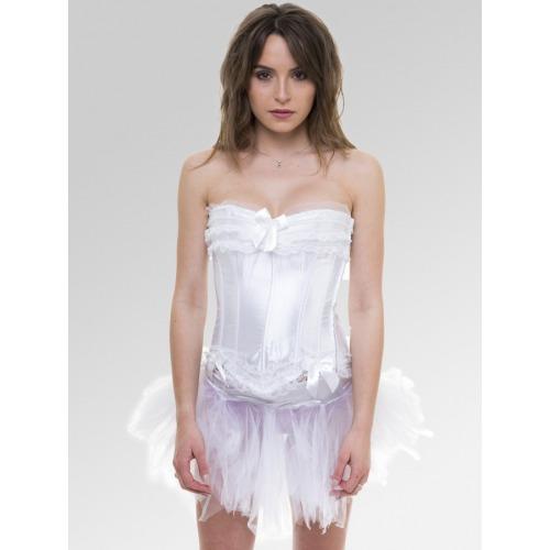 Burlesque Corset & Tutu Outfit - White