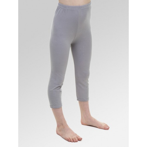 Girls 3/4 Length Cropped Leggings - Grey