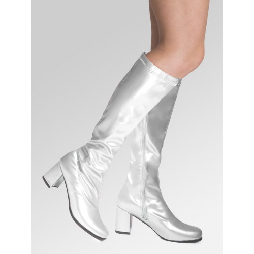 Knee High Boots - Silver