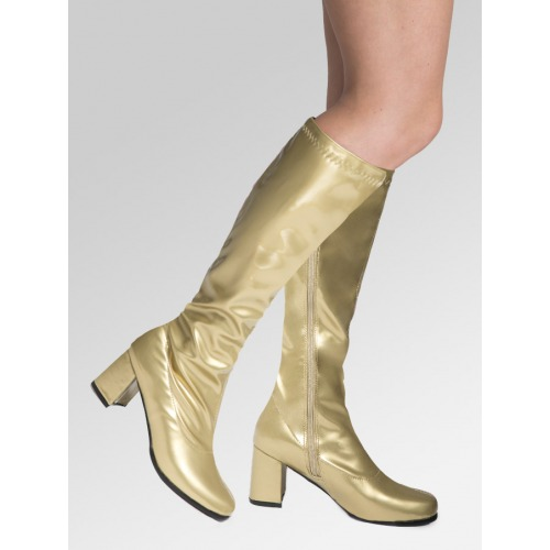 Knee High Boots - Gold