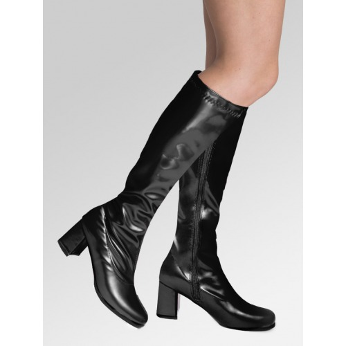 Knee High Boots - Black Patent