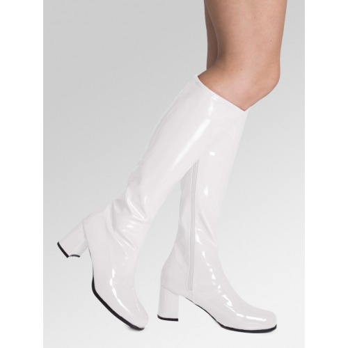 Knee High Boots - White Matt