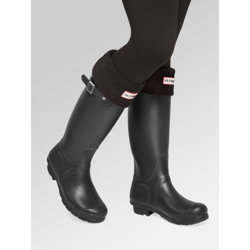 Matt Black Wellies + Boot Socks Combo Deal
