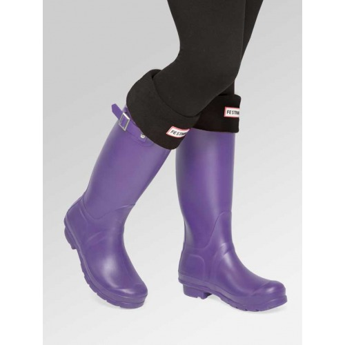 Purple Wellies + Boot Socks Combo Deal