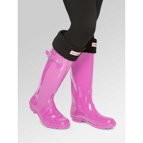 Pink Wellies + Boot Socks Combo Deal