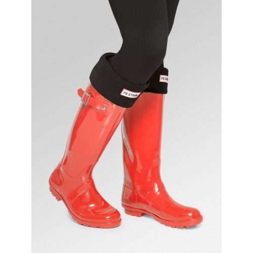 Red Wellies + Boot Socks Combo Deal