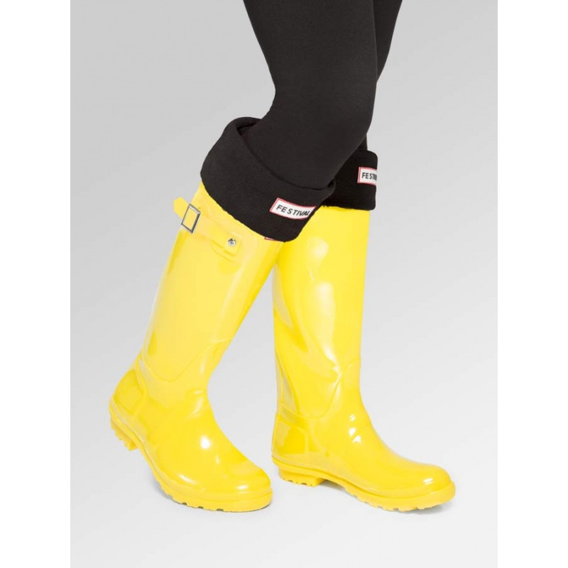 ca126d3c2 Yellow Festival Wellies with Boot Socks Combo Deal