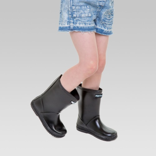 Kids Festival Wellington Boots - Black