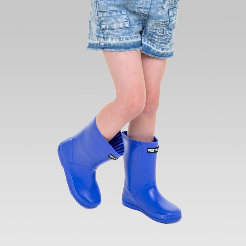 Kids Festival Wellington Boots - Blue