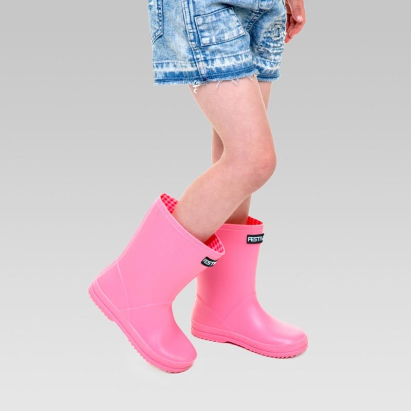 Kids Festival Wellington Boots - Pink