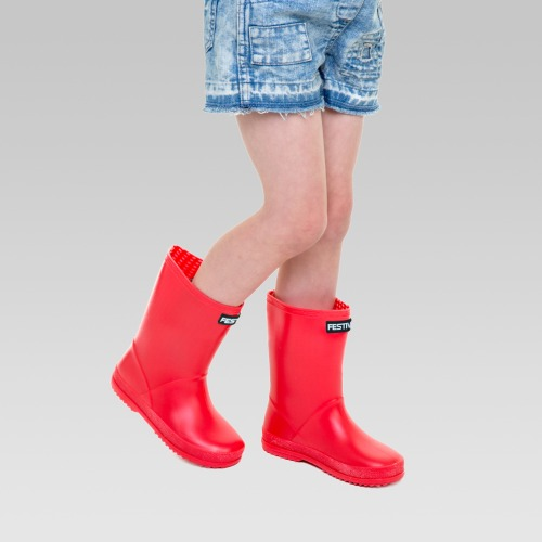 Kids Festival Wellington Boots - Red
