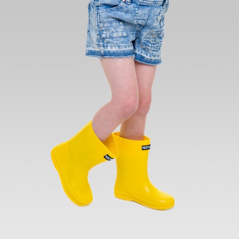 Kids Festival Wellington Boots - Yellow