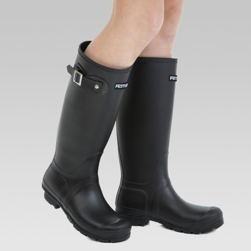 Festival Wellington Boots - Matt Black