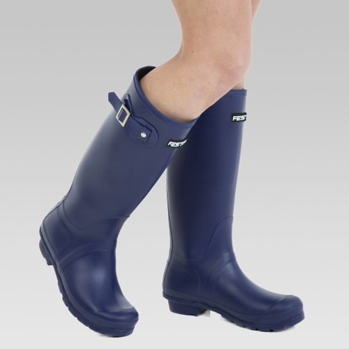 Festival Wellington Boots - Navy Blue