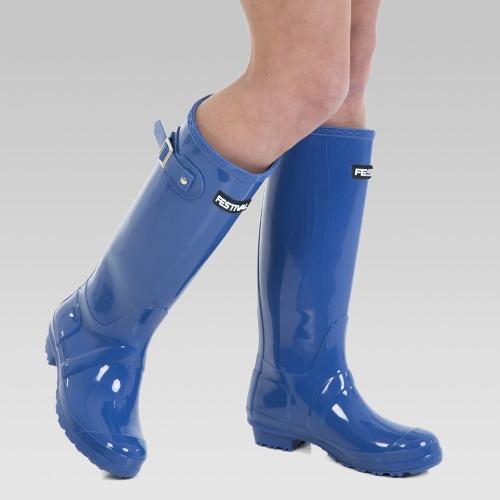 Festival Wellington Boots - Blue