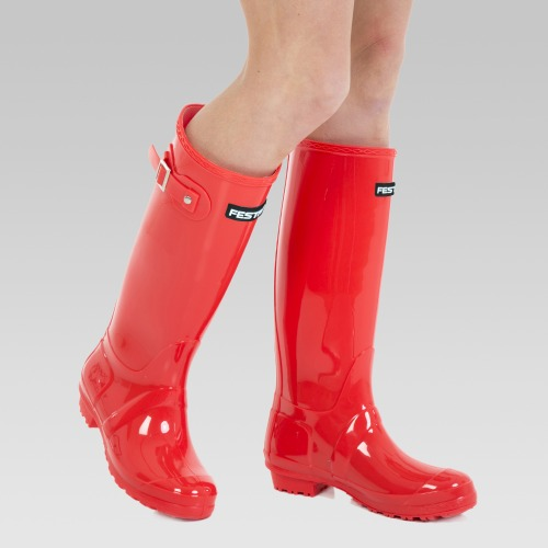 Festival Wellington Boots - Red