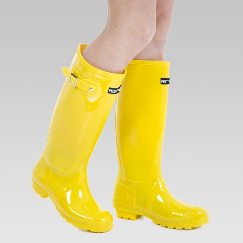 Festival Wellington Boots - Yellow