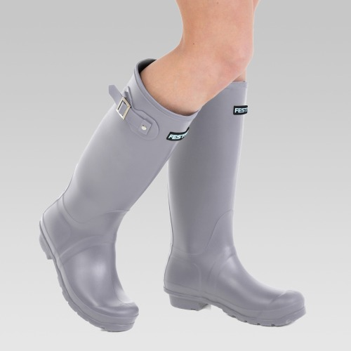 Festival Wellington Boots - Grey